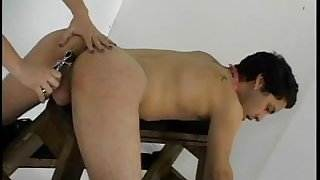 Hot femme domm with huge strapon loves to fuck her thin boyfriend